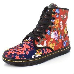 Dr Martens Shoreditch FC Canvas Floral Boots 7